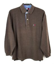 TOMMY HILFIGER Men Jumper Polo Neck Pullover Casual Top Size M FZ653