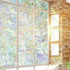 1PC 200cm Window Film Stained Glass Pattern Window Clings Office Home Decor~