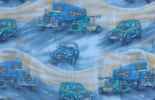 100 % Brushed Cotton Kids Jeeps Lorries Fabric Panel 73 x 48 cm Approx