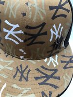 NEW ERA New York YANKEES MLB Brown 59FIFTY size 7 fitted baseball cap hat