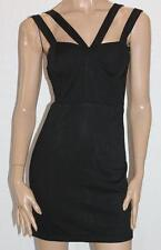 ef Collection Designer Black Zip Back Bodycon Dress Size S BNWT #sq26
