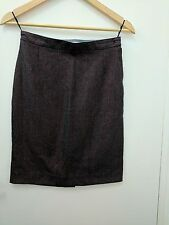 See By Chloe Woven Multi Coloured Red/Grey Sparkly A Line Skirt Uk 8