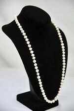 "Gorgeous Single Strand *AAA++ AKOYA PEARLS* 25"" Classic Necklace Jewelry"