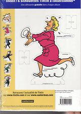 Série complète des 6 albums Tintin avec silhouette