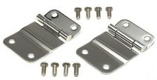 1976-1986 Jeep CJ7 CJ5 CJ8 Tailgate Hinges Stainless Steel Pair