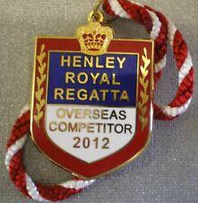 HENLEY ROYAL REGATTA ENAMEL Badge OVERSEAS COMPETITOR 2012 ROWING