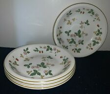 "(Set of 4) Wedgwood WILD STRAWBERRY Earthenware 7 1/4"" SOUP BOWLS (England)"