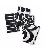 "Marimekko for Target 4pk White Black Cotton Napkin 20"" x 20"""
