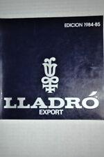 1984-1985 Lladro Porcelain Figurine Collectors Exports Catalogue