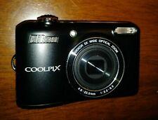 Nikon COOLPIX L28 20.1MP Digital Camera Xlnt. w/ USB Cord, Mem Card, Case & Free