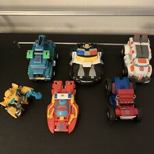 Transformers Rescue Bots Hoist The Tow Police And More Lot Of 6 Figures/vehicles