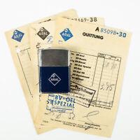 ARAL Benzin Feuerzeug NOS Tankstellen Werbung & Belege 1952 Petromobilia
