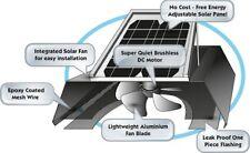 EcoHome Premium 20W Solar Roof Ventilation Fan 1600CFM : Reduce heat, moisture.