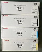 Canon GPR-21 Black ,Cyan,Magenta Toner Cartridge 0262B001 Genuine New Sealed Box