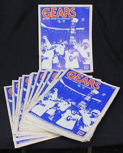 16 Vtg Saginaw Gears Hockey Souvenir Programs IHL Lot 1981-82 Players Michigan