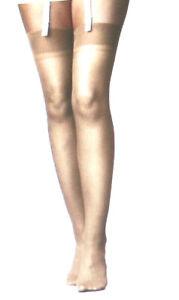 1 PR 15 Denier Ultra Sheer Stretch RHT Nylons Stockings Nude 11-12XL