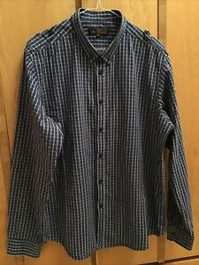 Ben Sherman Blue Check shirt great condition XXL 2xl slim fit may be ok for xl