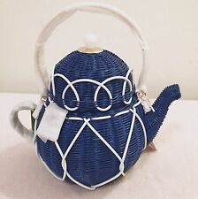 NWT Kate Spade Down The Rabbit Hole Wicker Teapot Bag Rare!!
