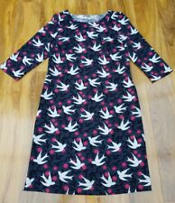 Boden Ladies GORGEOUS Alda Dress Graphite Swallows Vine W0019 UK 10L. Brand new.