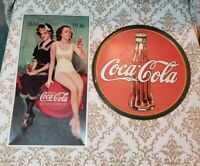 Coca Cola Tin Metal Signs - Coca cola & 50th Anneversary Reproductions