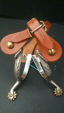 Weaver Leather Women's Engraved Roping Spurs w/Weaver Straps