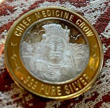 """.999 Silver Medicine Crow 37.1 Grams Native American """"Lucky Coin Usa� Token"""