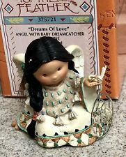 Dreams of Love Enesco Figurine Friends Of The Feather Angel w Baby Dreamcatcher