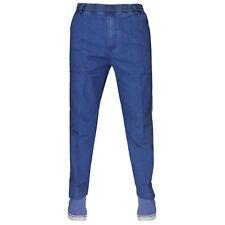 Mens Denim Stretch Jeans Elasticated Waist Work Wear Comfort Casual Pants Dark Wash 3xl