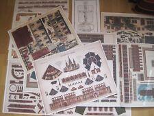 Sammler Set Gebäudebausätze Kartonbausatz *NEU* Bastelbogen