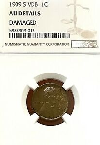 1909-S VDB LINCOLN WHEAT CENT NGC AU