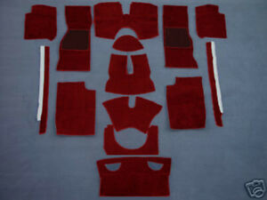 Carpet kit for Triumph TR4a TR250 TR5  TR6  velours dark red