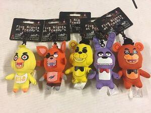 Five Nights At Freddy's Plüsch Rucksack Kleiderbügel/Schlüsselanhänger, = Alle 5