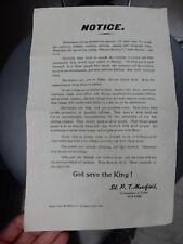 poster anti Quit India Rare Govt poster Tirhut re Ghandi Congress 1942