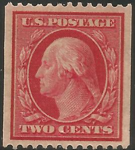 US Scott # 349 XF MNH ~ 2 cent George Washington coil perf 12 Hor.