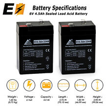 UPG 2 Pack - BATTERY 6V 6 VOLT SLA VRLA RECHARGEABLE 4, 4.5,5 AH Replacement Bat