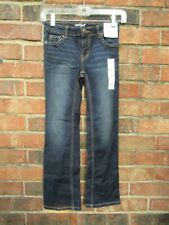 Cat & Jacket Sz 7 Bootcut Dark Wash Adjustable Waist Jeans NWT