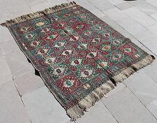 Turkish Kilim Rug 46''x58'' Hand Woven Konya Cicim Kilim 118x148cm
