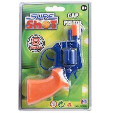 Sure Shot Cap Pistol Gun Toy Plastic Chamber Revolver Ring Caps Boys Game Shoot