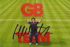 TENNIS: HEATHER WATSON SIGNED 6x4 TEAM GB PORTRAIT PHOTO+COA *RIO 2016* *PROOF*