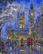 "16x20"" DIY Acrylic Paint By Number kit Oil Painting On Canvas London Big Ben 357"