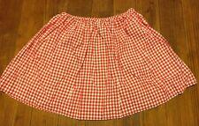 Ralph Lauren Polo Girls Red/White Spring Gingham Skirt Size Medium 8-10 EUC