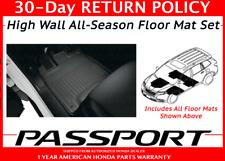 🔥Honda Passport Black High Wall All Season Floor Mat Set Mats  08P17-TGS-100 🔥