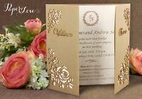 Wedding Invitations Personalised Day Evening Laser Cut FREE Envelopes