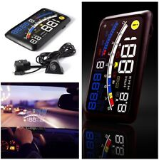 5.5''HUD Head-Up Display OBD2 EOBD Car Dashboard Mounted Projector Speed Warning