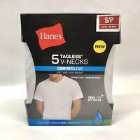 Hanes Men's 5-Pack ComfortBlend V Neck T-Shirt with FreshIQ New Small
