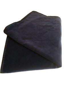 Vintage Ralph Lauren Blue Velvet Galahad Medieval Euro Sham w/Sateen Trim Border