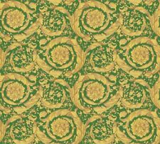 Versace 4 Home Wallpaper 366926 Ornament grün metallic Tapete Vliestapete