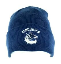 Vancouver Canucks Hockey Blue Reebok Cuffed Beanie Hat Cap