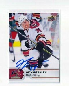 NICK MERKLEY autographed SIGNED '17/18 Upper Deck AHL card #127