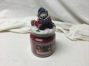 New Yankee Candle Welcome Christmas 14.5oz Jar Single Wick & Christmas Lid Rare
